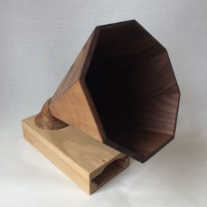 This amplifier is made out of wood