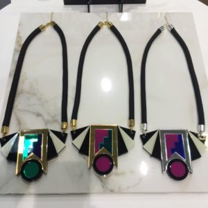 Necklaces designed by Akiko Ban for her brand Mystic Forms