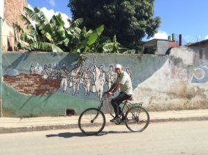 Cyclist in Trinidad