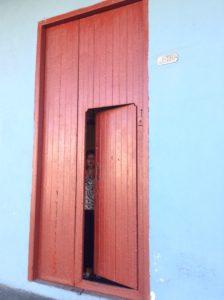 Red door in Trinidad