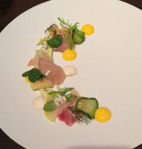 Tuna sashimi dish at ZE Kitchen