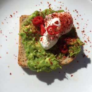 Avocado toast with chillies