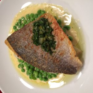 Sea Bass at Tanner & Co restaurant