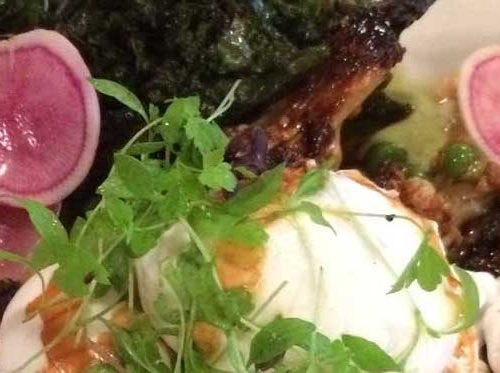 Kale and poached eggs at Brewtown.